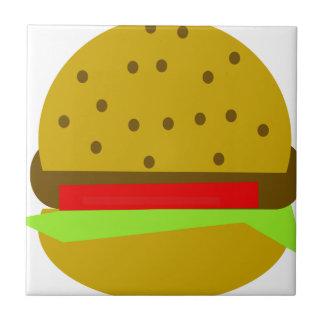 Hamburger food fast food burger tile
