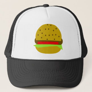 Hamburger food fast food burger trucker hat
