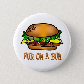 Hamburger Fun 2 Inch Round Button