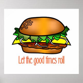 Hamburger Good Times Poster