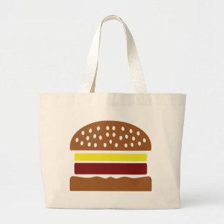 hamburger icon large tote bag