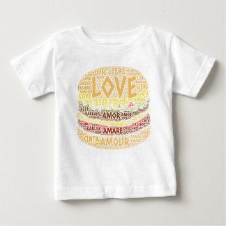 Hamburger illustrated with Love Word Baby T-Shirt