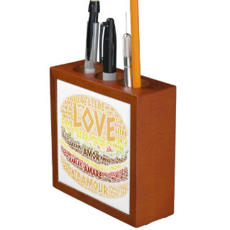 Hamburger illustrated with Love Word Desk Organizer
