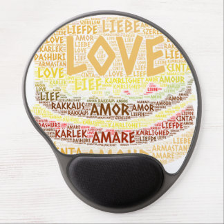 Hamburger illustrated with Love Word Gel Mouse Pad
