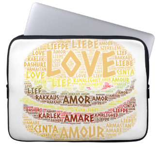 Hamburger illustrated with Love Word Laptop Sleeve