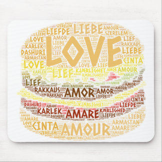Hamburger illustrated with Love Word Mouse Pad
