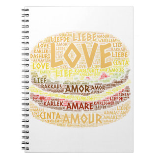 Hamburger illustrated with Love Word Notebook