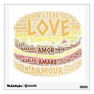 Hamburger illustrated with Love Word Wall Decal