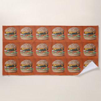 Hamburger Illustration beach towel