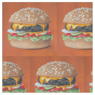 Hamburger Illustration custom fabric