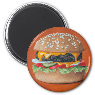 Hamburger Illustration magnets