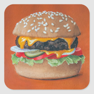 Hamburger Illustration stickers