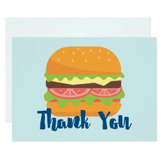 Hamburger Illustration Thank You Card