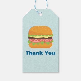 Hamburger Illustration Thank You Gift Tags