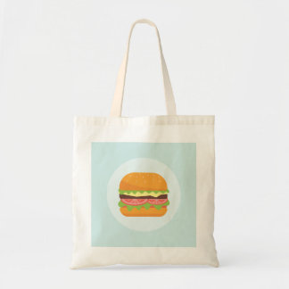 Hamburger Illustration with Tomato and Lettuce