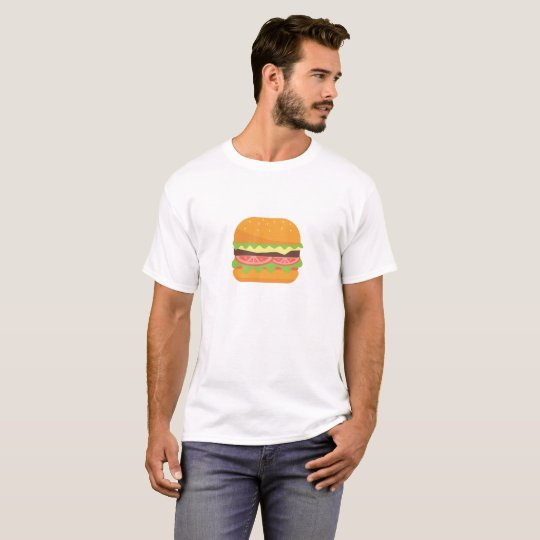 Hamburger Illustration with Tomato and Lettuce T-Shirt