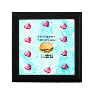 Hamburger In Finnish, Spanish, And Chinese Gift Box