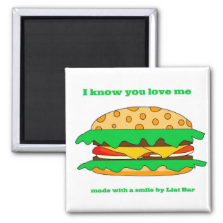 hamburger love magnet