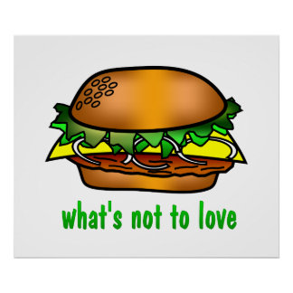 Hamburger Love Poster