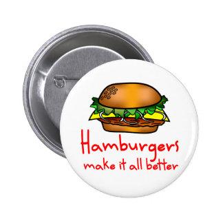 Hamburger Lover 2 Inch Round Button