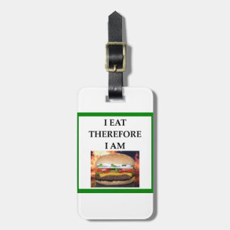 HAMBURGER LUGGAGE TAG