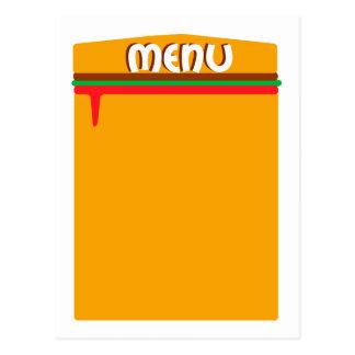 hamburger menu page postcard