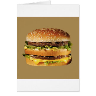 hamburger on tan card