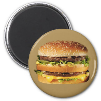 hamburger on tan magnet