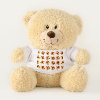Hamburger Pattern Teddy Bear