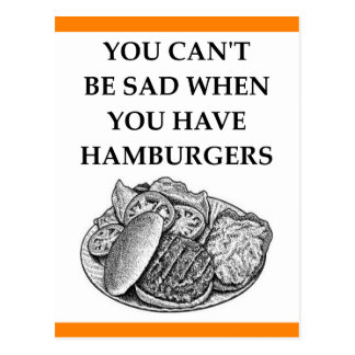 HAMBURGER POSTCARD