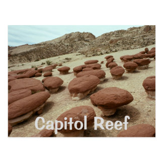 Hamburger Rocks, Capitol Reef National Park, Utah Postcard