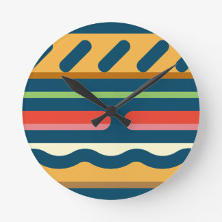 Hamburger Round Clock