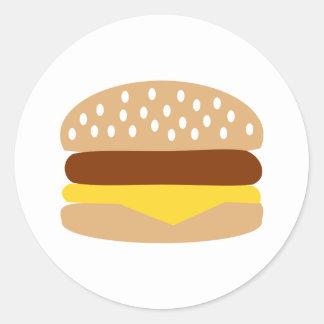 Hamburger Round Sticker
