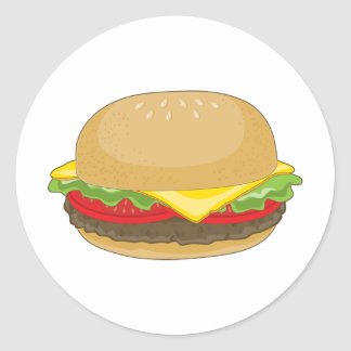 Hamburger Round Sticker