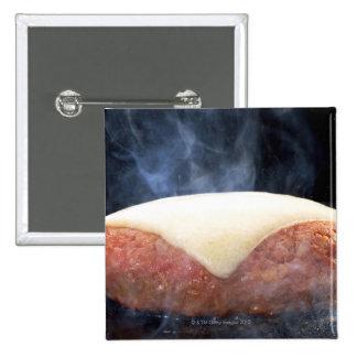 Hamburger Steak 2 Inch Square Button