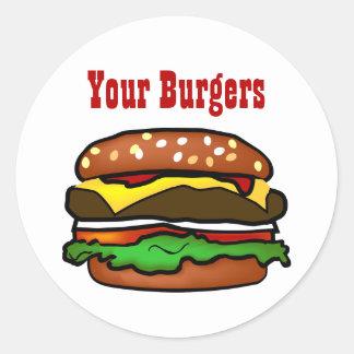 Hamburger Sticker