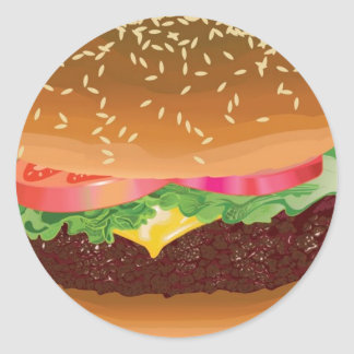 Hamburger stickers