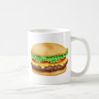 Hamburger with the lot! classic white coffee mug