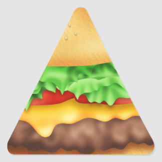 Hamburger with the lot! triangle sticker