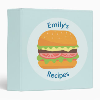 Hamburger with Tomato and Lettuce Recipe 3 Ring Binder