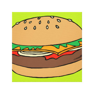 Hamburger wrapped canvas gallery wrap canvas