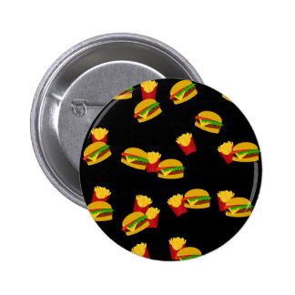 Hamburgers and french fries pattern 2 inch round button