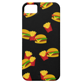 Hamburgers and french fries pattern case for the iPhone 5