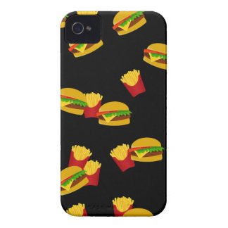 Hamburgers and french fries pattern iPhone 4 cover