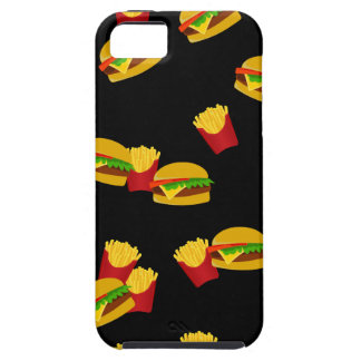 Hamburgers and french fries pattern iPhone 5 case