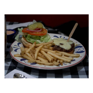 Hamburgers And Fries Postcard