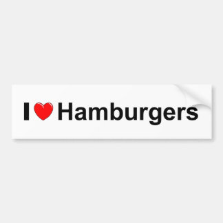 Hamburgers Bumper Sticker