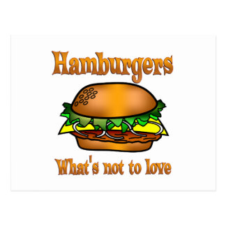 Hamburgers to Love Postcard