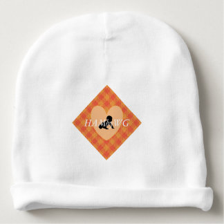 HAMbWG - Baby Beanie - Orange Gingham
