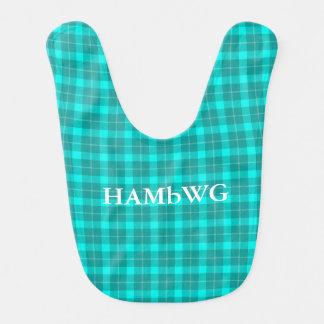 HAMbWG - Baby Bib - Aqua Plaid